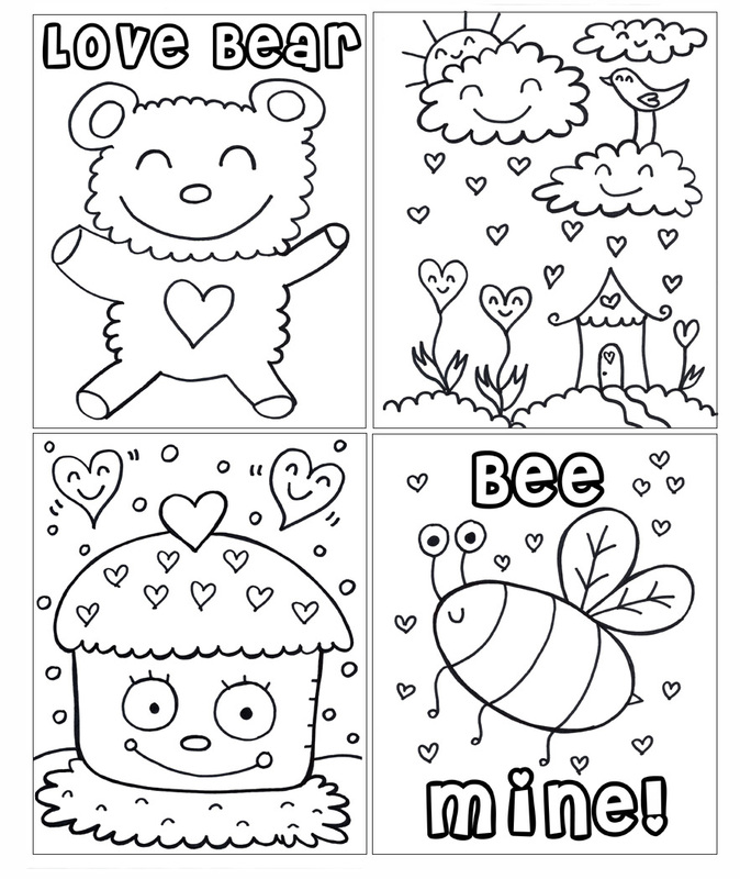 New PDF Printable Valentines Day Coloring Book