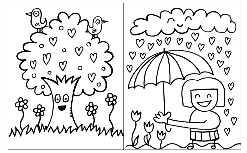 new pdf printable valentines day coloring book welcome to jelenecom - Color Books
